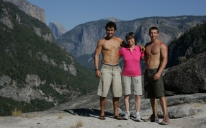 Mum and sons in Yosemite.
