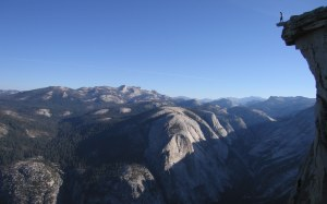 Finn McCann on the Diving board on Half Dome.