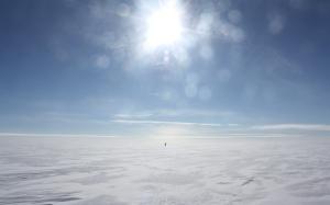 Greenland man hauling.