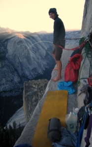 Finn McCann on the North face of Half Dome.