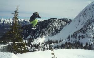 Finn McCann snowboarding, Canada.