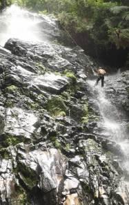 Rory McCann abseiling in Honduras.