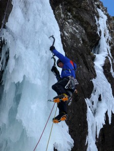 "Finn McCann on the icicle of ""The Devils Appendix"" VI 6."