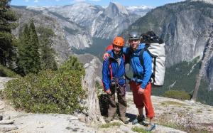 Seamus and Finn McCann at the top of El Capitan