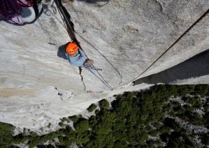 Seamus McCann in the Stove leg crack on El Capitan