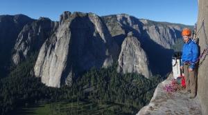 Seamus McCann on El Cap ledge