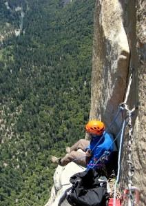 Seamus McCann stopping for a bite to eat on El Capitan
