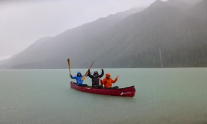 Canoeing on Glacier Lake