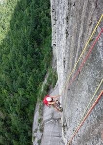 Muzz climbing 'The Grand Wall'