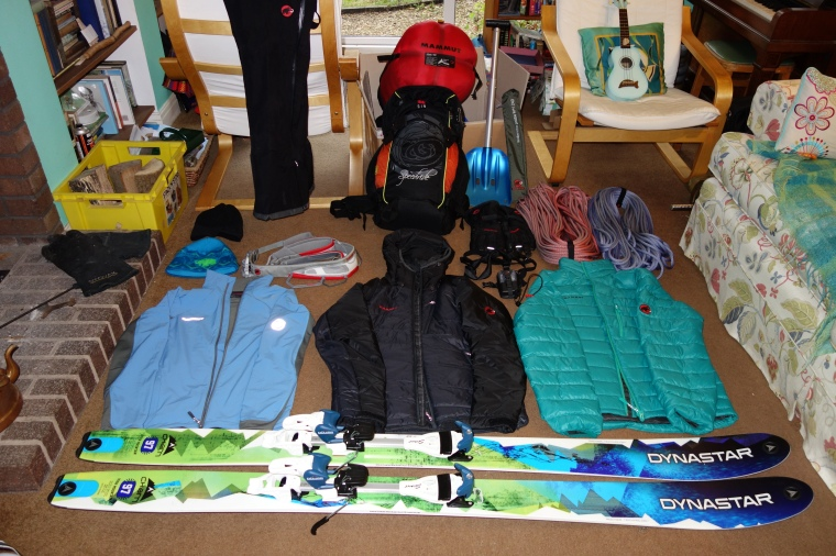 Some of the new kit that's recently arrived for the upcoming expeditions.