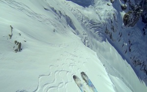 Screen grab from Finn's Vallee Blanche flight