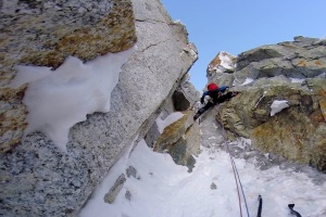 Finn McCann on the top pitch of the Eugster Direct