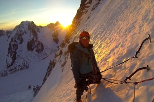 Wilki in the alpenglow