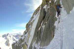 Wilki on the 2nd steep pitch