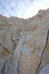 Immaculate granite on the upper half of the Poincenot