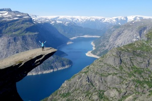 Lucy on the Trolltunga