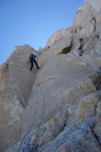 Wilki abseiling