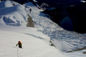 Wilki at the top of the glacier